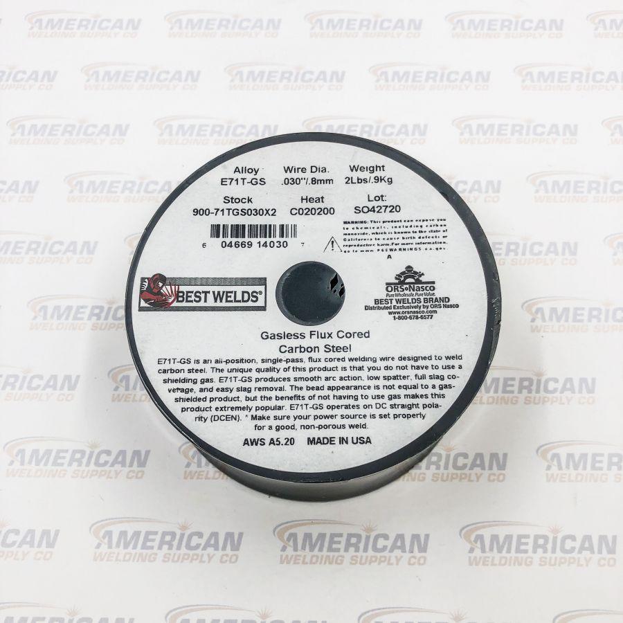 "900-71TGS030X2  /  E71T-GS Flux Cored Welding Wires, CARBON STEEL 0.030"" (0.8 mm), 2 lb, SPOOL"