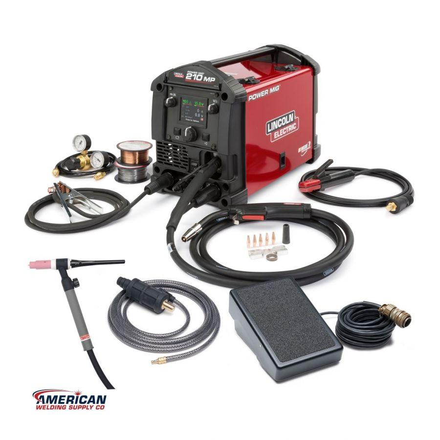K4195-2  /  POWER MIG® 210 MP Multi-Process Welder TIG One-Pak®